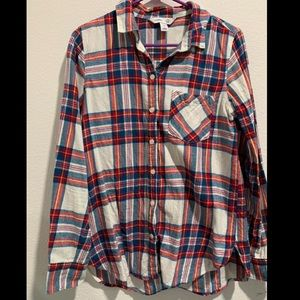 Old Navy Flannel Shirt! ❤️💚💙